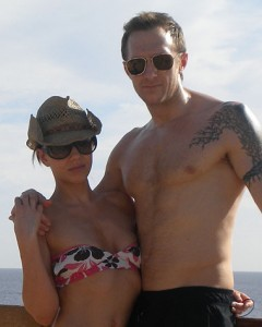 Horrified ... Brits Richard King and Laura Hooper