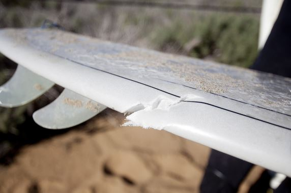 Kevin Swanson surf board